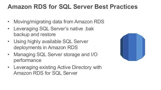 Best Practices running SQL Server on AWS