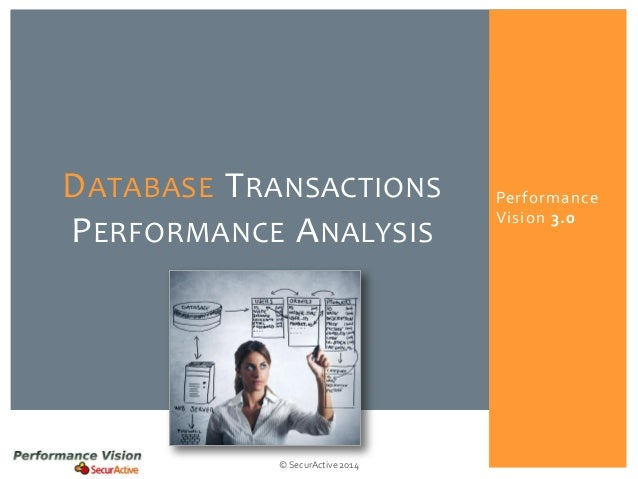Performance Vision 3.0  © SecurActive 2014  DATABASETRANSACTIONSPERFORMANCEANALYSIS