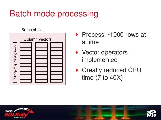 Batch mode processing                             Batch object                                               Process ~1000...