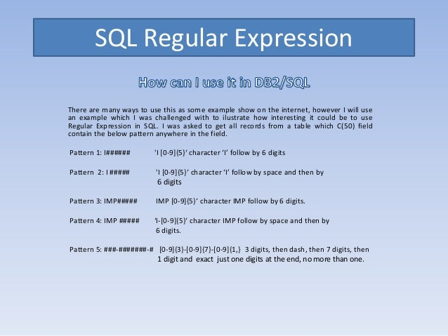 c regular expression tutorial