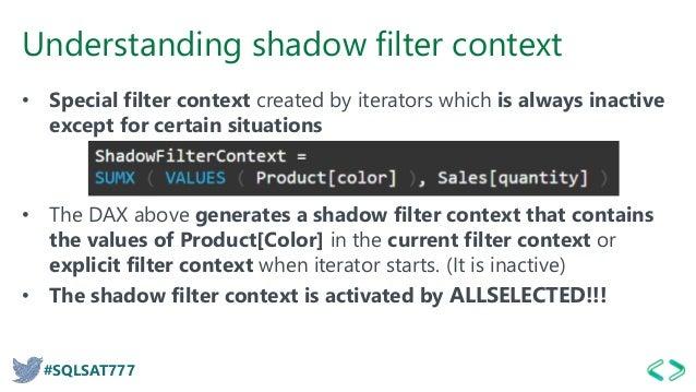 Dax Except Filter