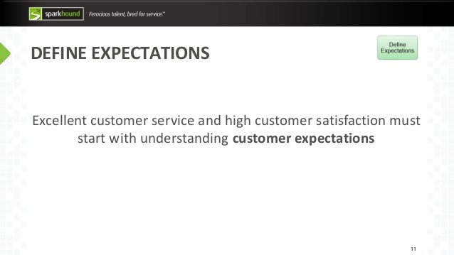 define expectations 11 excellent customer service