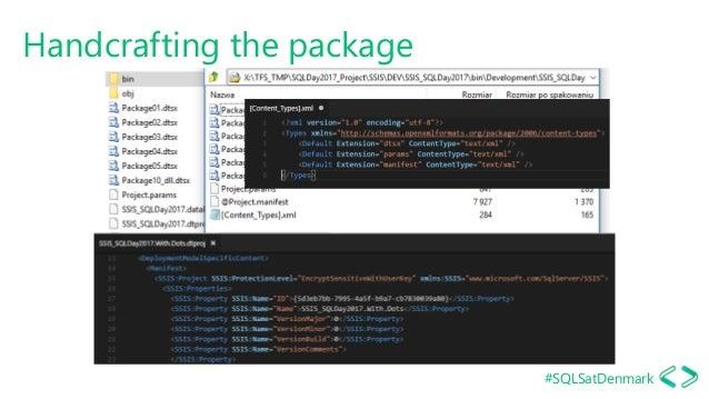 #SQLSatDenmark Handcrafting the package