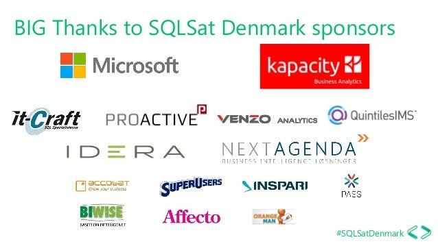 #SQLSatDenmark BIG Thanks to SQLSat Denmark sponsors