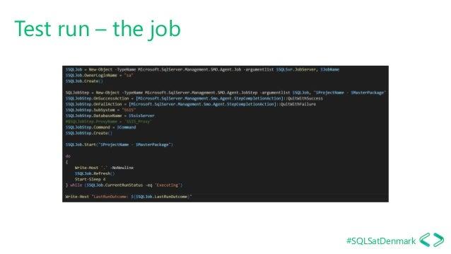 #SQLSatDenmark Test run – the job