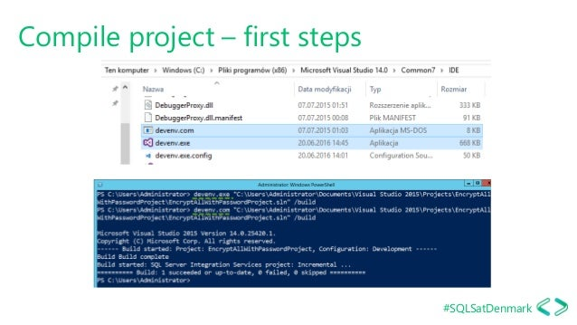 #SQLSatDenmark Compile project – first steps