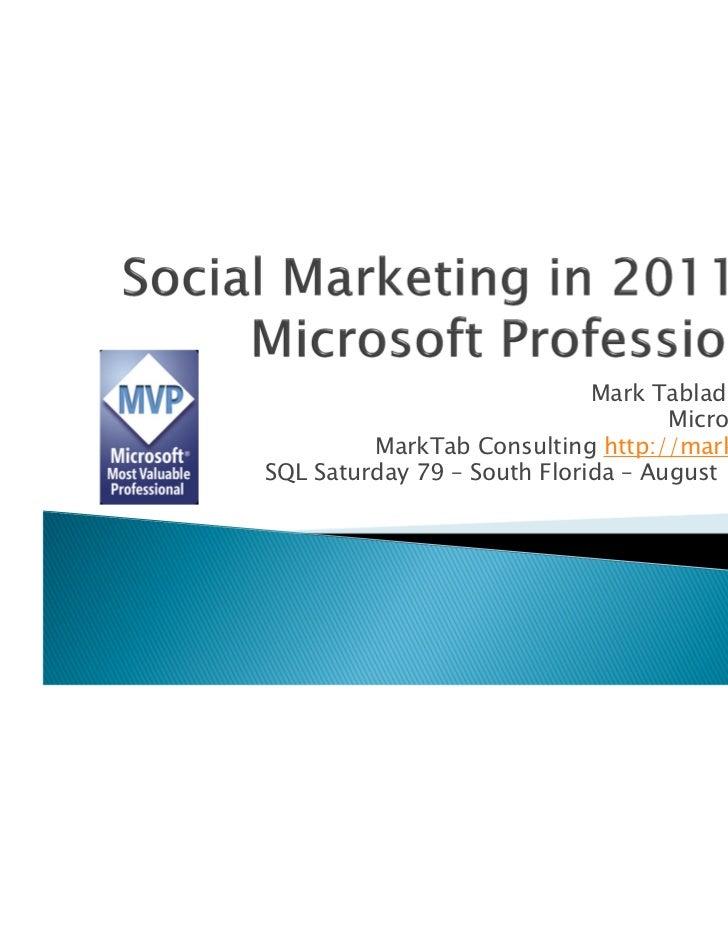 Mark Tabladillo Ph.D.                                    Microsoft MVP         MarkTab Consulting http://marktab.comSQL Sa...