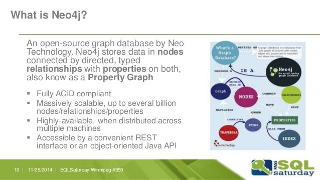 What is Neo4j?  An open-source graph database by Neo  Technology. Neo4j stores data in nodes  connected by directed, typed...