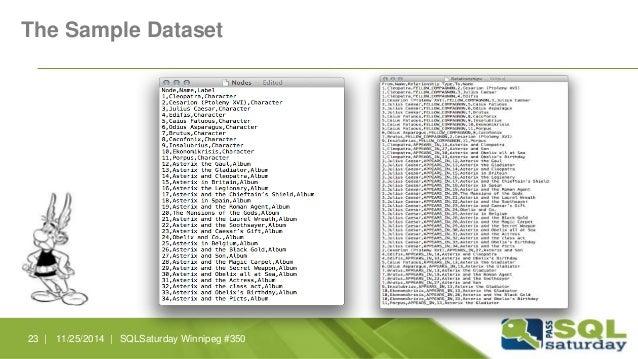 The Sample Dataset  23 | 11/25/2014 | SQLSaturday Winnipeg #350