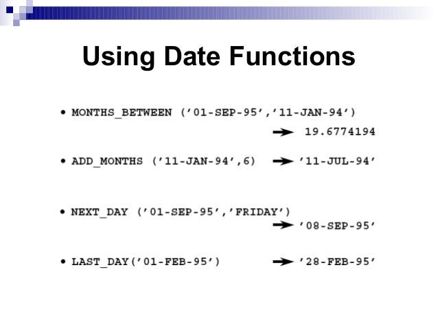 Dating functions