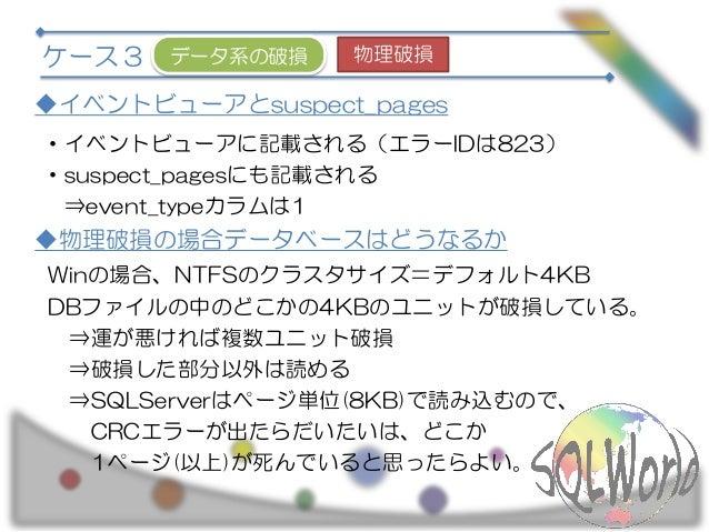 SQL serverのデータ破損に備える