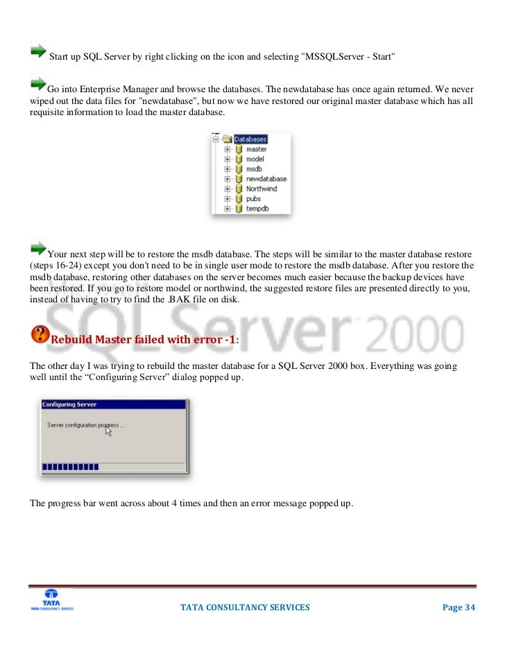 SQL Server 2000 Installation Rollout Backout Plan