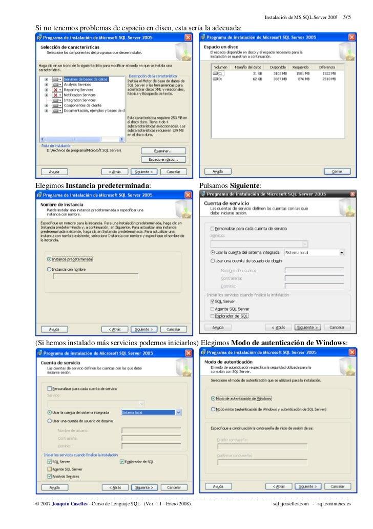 Sql server 2005-instalacion Slide 3