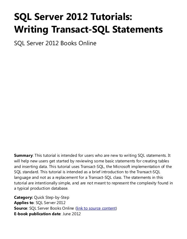 sequel or sql essay There are four basic types of sql joins: inner, left, right, and full the easiest and  most intuitive way to explain the difference between these four types is by using.
