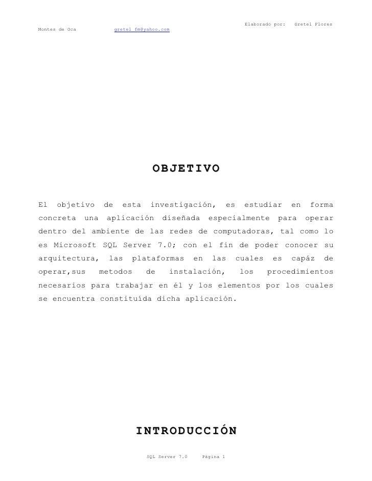 Elaborado por:   Gretel Flores Montes de Oca              gretel_fm@yahoo.com                                             ...