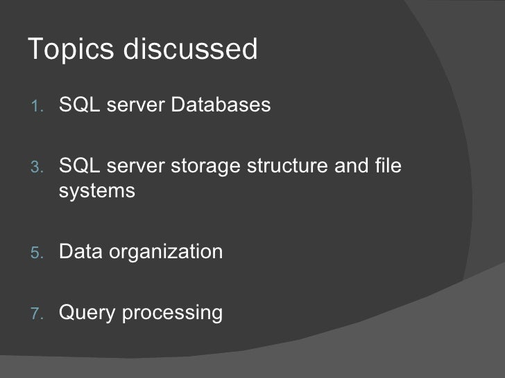 Sql Server Basics Slide 3