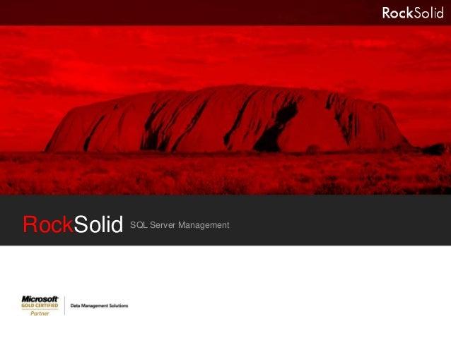 RockSolid   SQL Server Management