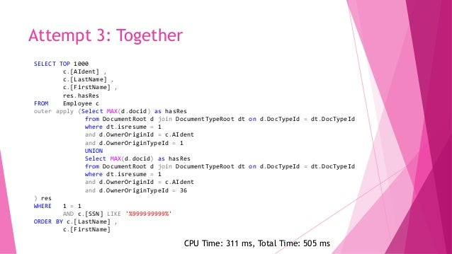 Clustered VS Non-Clustered  Clustered indexes  This IS the table. It stores the actual table data at the leaf level.  N...