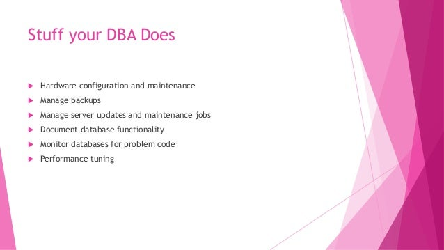 Dynamic Management Views for Performance Tuning  DMVs can find  Wait statistics  Poorly Performing queries by several m...