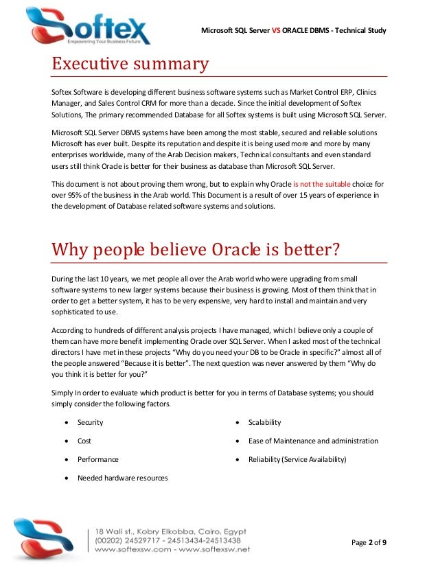 SQL Server Vs Oracle DBMS Comparison Slide 2