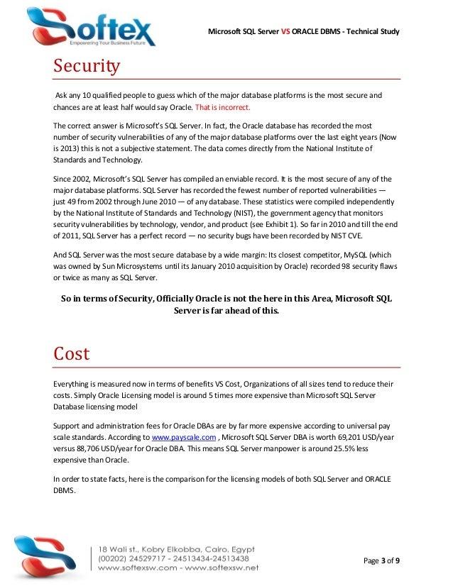 SQL Server Vs Oracle DBMS Comparison Slide 3