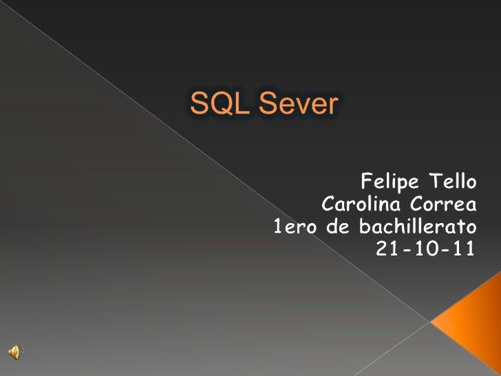  Definición Utilidades Clientes-servidor Instalación-requisitos Versión Estructura de una Base De Datos