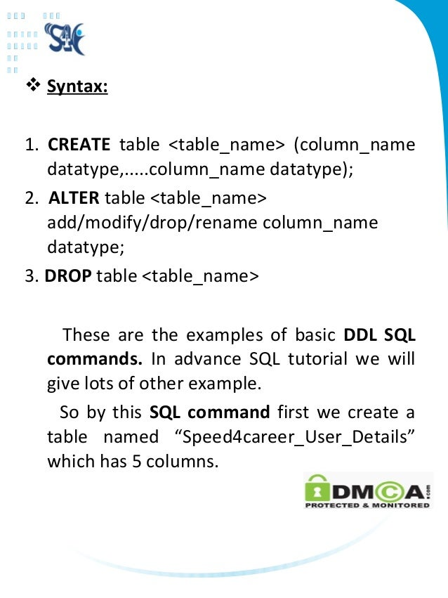 Sql tutorial for beginners basic sql commands sql syntax - Alter table change column type ...