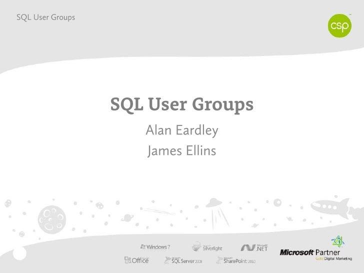 SQL User Groups