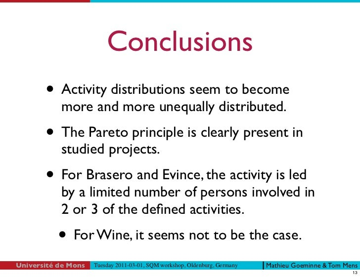 Evidence for the Pareto principle in open source software