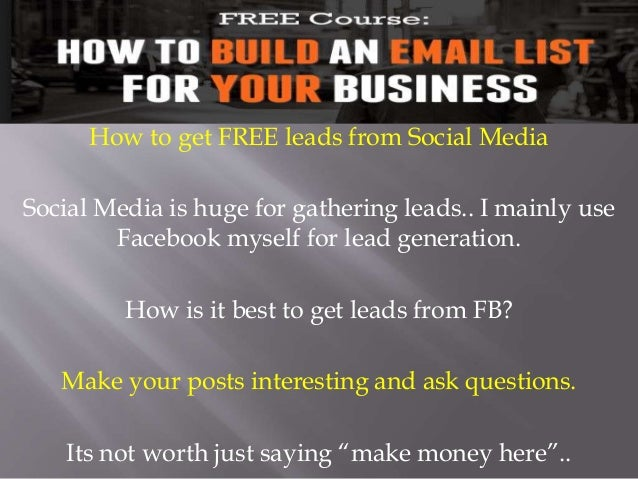 Get FREE leads Posting on Linkedin and FB