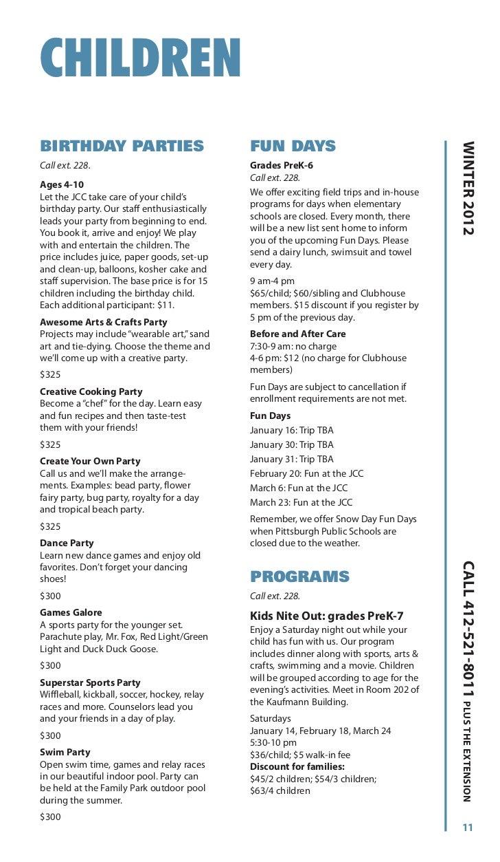 JCC Pittsburgh Winter 2012 Program Guide - Squirrel Hill
