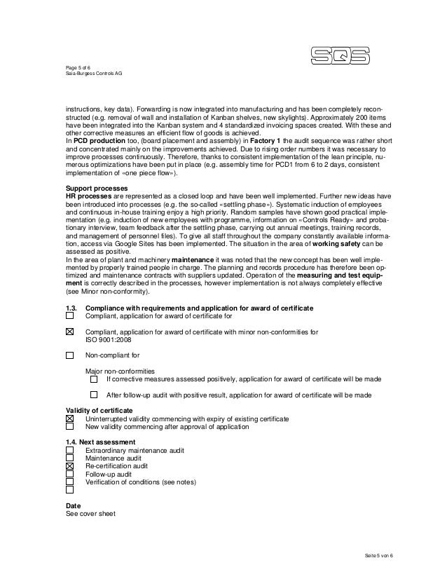 Page 5 of 6 Saia-Burgess Controls AG Seite 5 von 6 instructions, key data). Forwarding is now integrated into manufacturin...