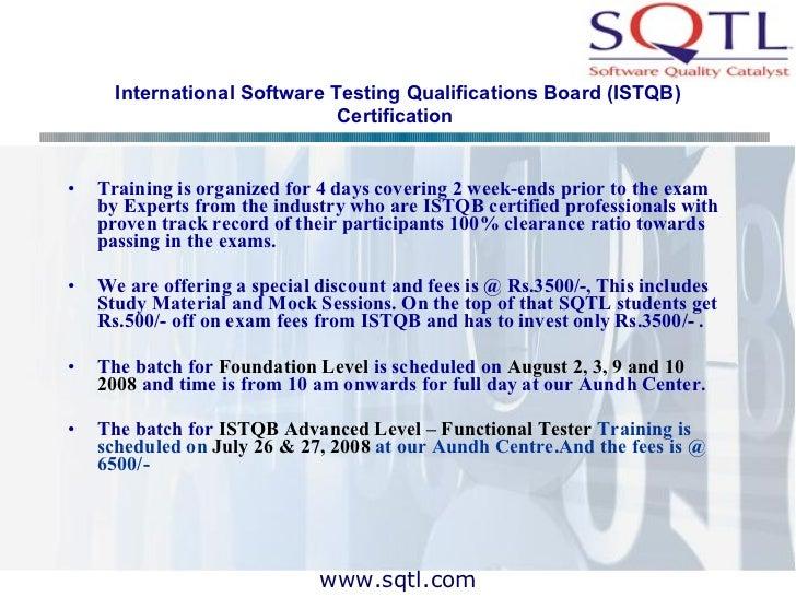 Sqtl Software Testing