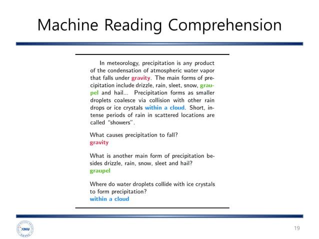 Machine Reading Comprehension 19