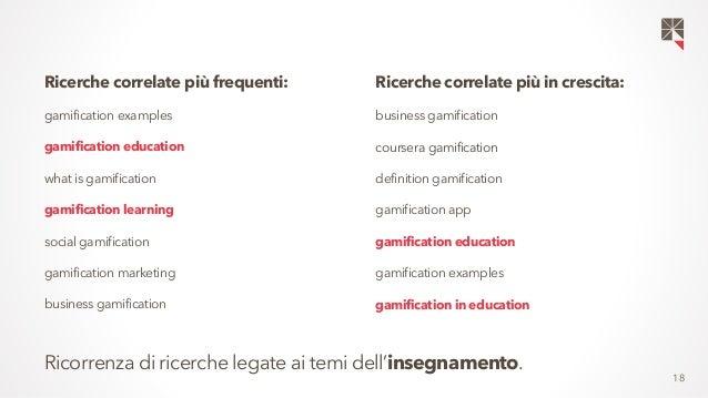 18  Ricerche correlate più frequenti:  gamification examples  gamification education  what is gamification  gamification l...