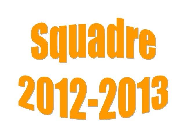 Squadre 2012 2013