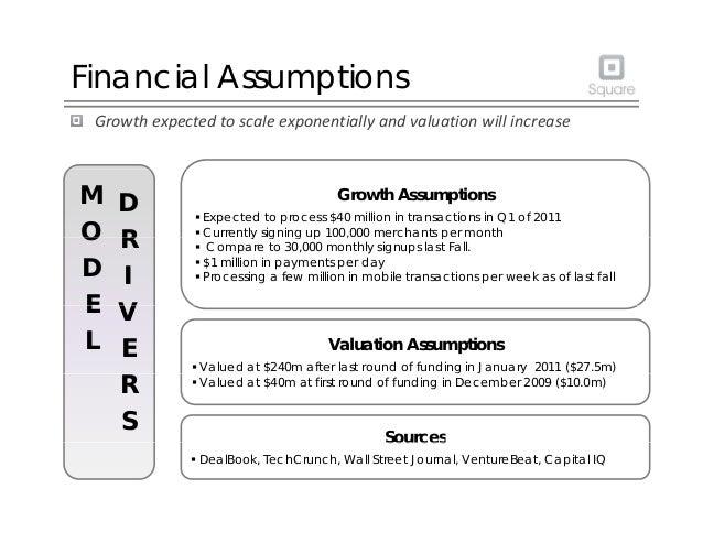 Financial Assumptions Growthexpectedtoscaleexponentiallyandvaluationwillincrease Growth Assumptions  Expected to ...