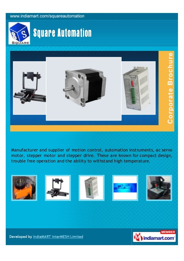 Manufacturer and supplier of motion control, automation instruments, ac servo motor, stepper motor and stepper drive. Thes...