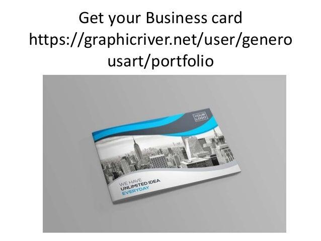 Get your Business card https://graphicriver.net/user/genero usart/portfolio