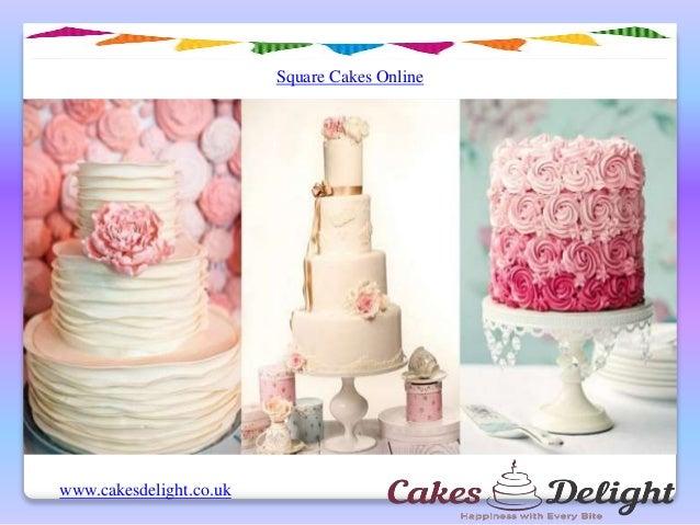 Square Cakes Online Cakesdelightcouk