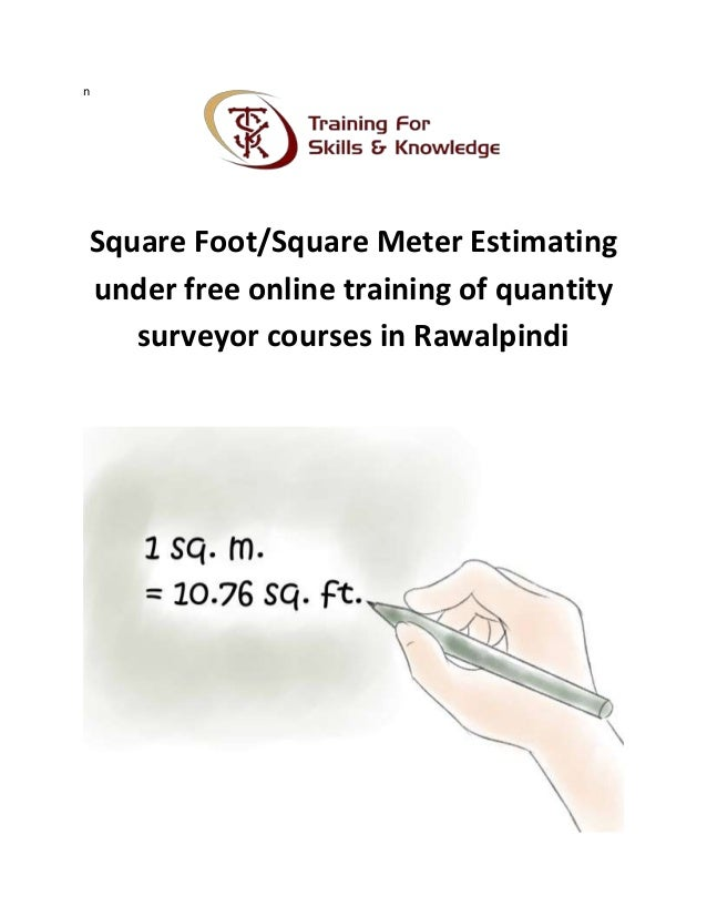 Square Foot Or Square Meter Estimating Under Free Online