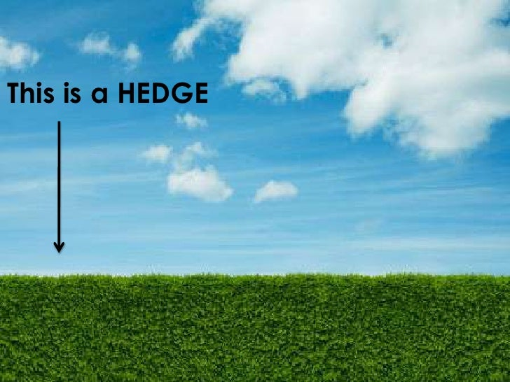 This is a HEDGE<br />
