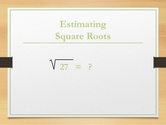 how to find square root of 21