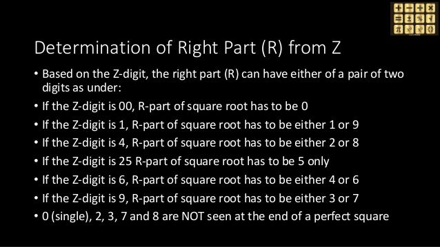 Determination of Right Part (R) from Z • Based on the Z-digit, the right part (R) can have either of a pair of two digits ...