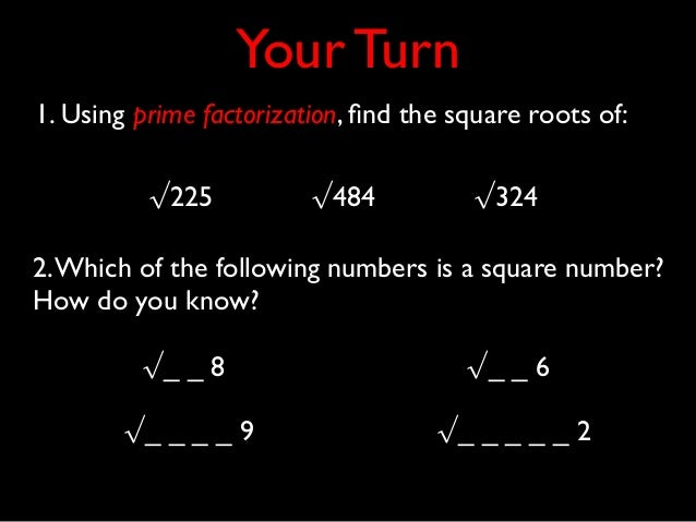 how to find the value of root 65