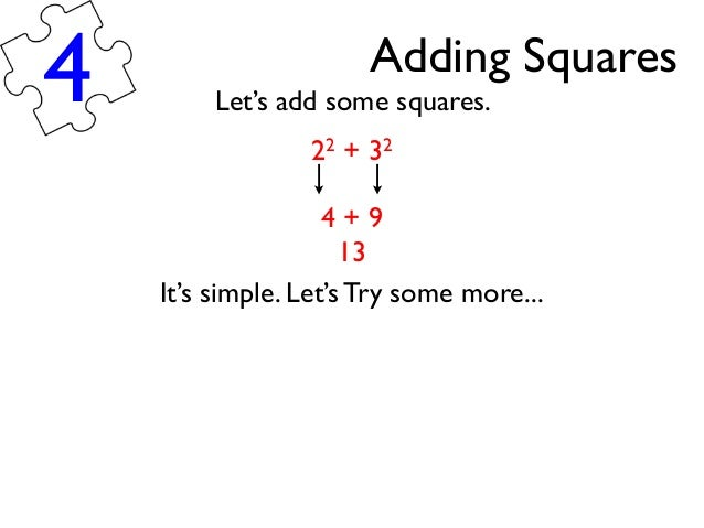 Applying Knowledge of Square Numbers and Square Roots