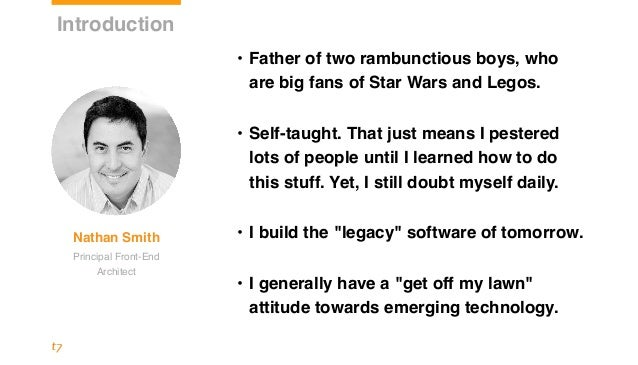 • Father of two rambunctious boys, who are big fans of Star Wars and Legos. • Self-taught. That just means I pestered lot...