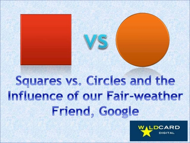Squares vs. circles and the influence of our fair weather friend,Google
