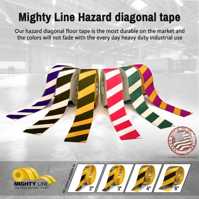 Mighty Line Safety Hazard Floor Tape