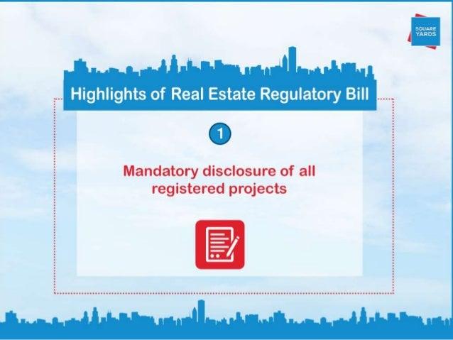 Real Estate Regulatory Bill: Amendments and Highlights Slide 2
